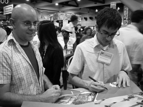 Me and Bryan signing posters at Comic-Con 2004
